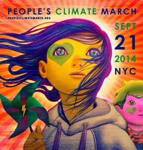 September 2014 New York climate march poster