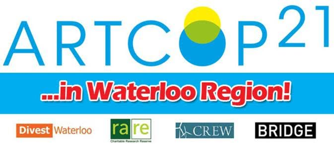 Logo for ArtCOP21 in Waterloo Region