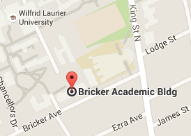 Map for Bricker Academic Building at Laurier