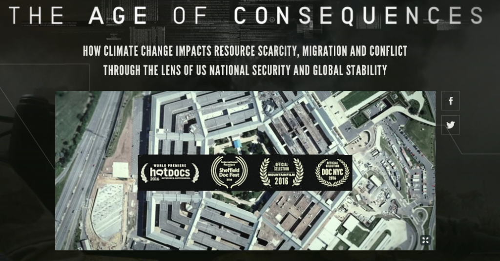 Promotional logo for The Age of Consequences documentary