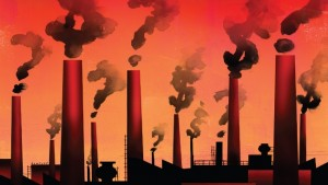 Smokestack image for carbon pricing