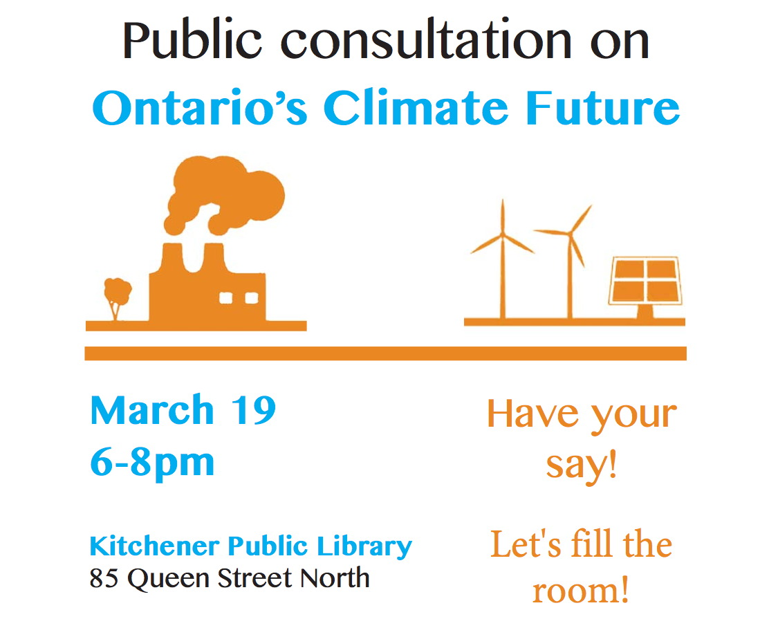 ontario climate consultation flyer - top half
