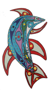 Metis art image of a salmon